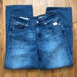 GAP Wide Leg Crop Jeans Light Blue size 00/24R